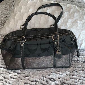Coach Black & Silver purse/handbag